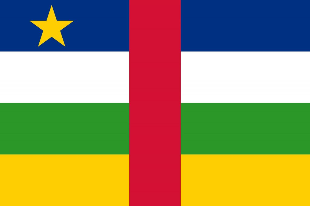 bandera de la republica centroafricana