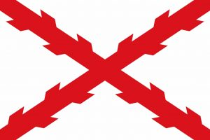 cruz o asta de borgoña bandera del imperio español