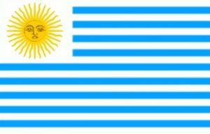 bandera de uruguay 9 franjas azules