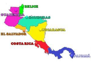 mapa politico america central