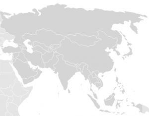 mapa blanco con países para colorear
