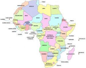mapa de africa con nombres