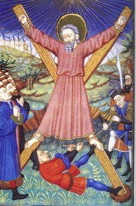 imagen del la crucifixión de San Andrés Apostol