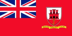 bandera de la conia britanica de gibraltar