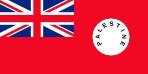 bandera de palestina durante la colonia britanica