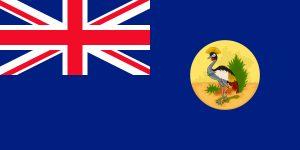 bandera del protectorado de uganda