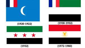 banderas historicas de siria