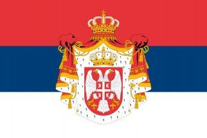 bandera del reino de serbia