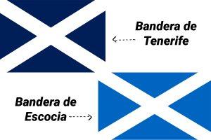 bandera de escocia y tenerife