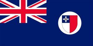 bandera de malta durante colonia britanica