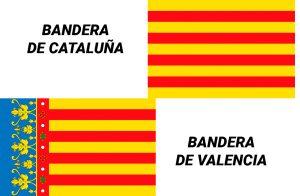 bandera de valencia vs bandera de cataluña