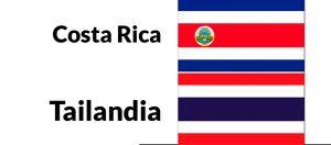 diferencia entre costa rica y tailandia bandera