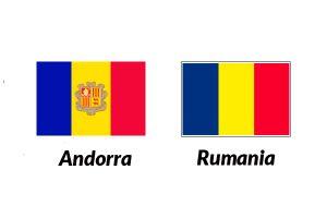 bandera de andorra y rumania