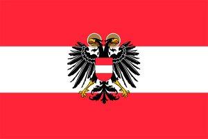 bandera de austria con escudo