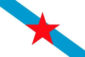 bandera de galicia con estrella