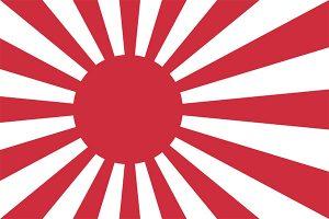bandera del sol naciente