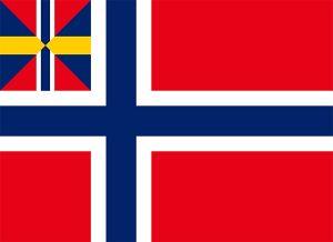 bandera de la union entre noruega y suecia