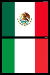 bandera de mexico e italia