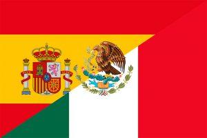 bandera de españa y mexico