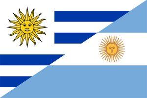 bandera de argentina y uruguay