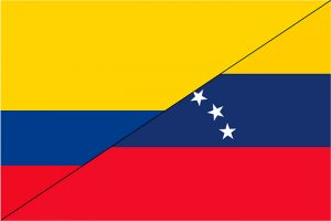 bandera de colombia y venezuela