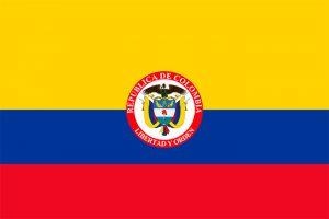 bandera de colombia con escudo