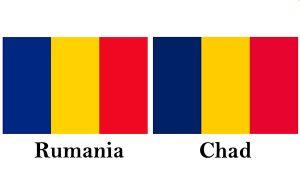 bandera de rumania y chad
